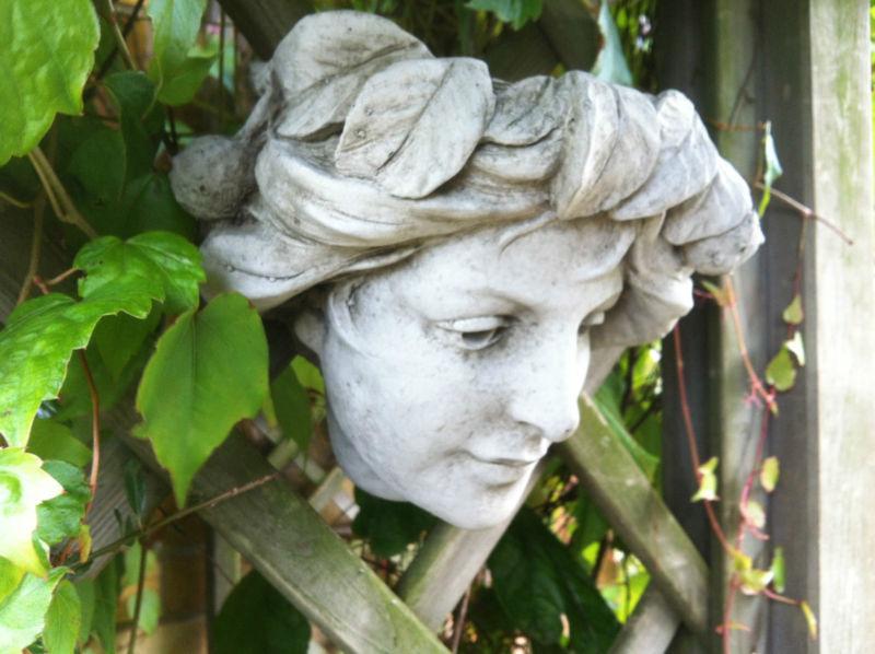 (NEW) Home U0026 Garden Stone Wall Plaques~Lady Hanging Ornaments~decorative  Art~nov