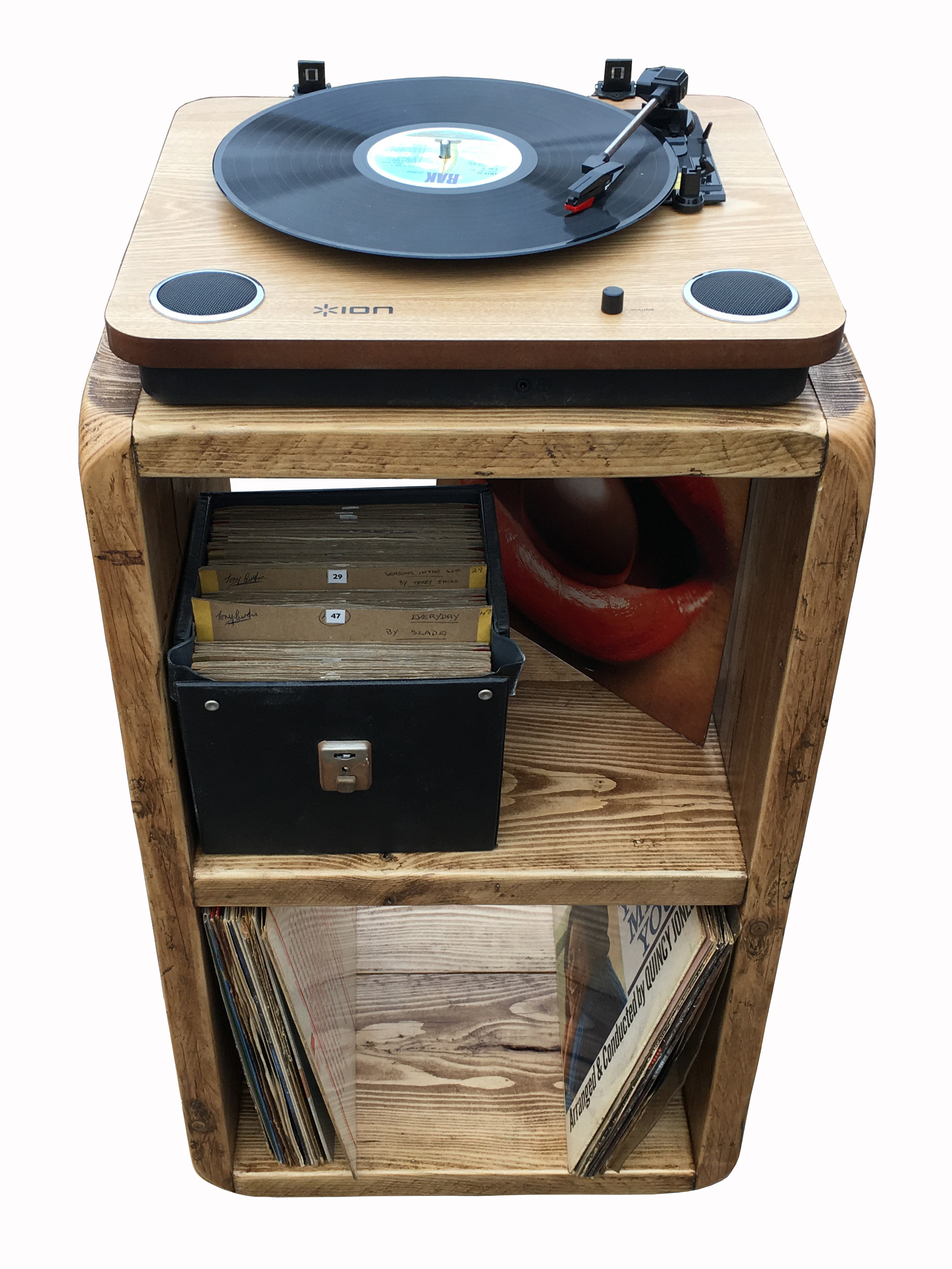 New Record Player Stand Lp Storage Box Record Player